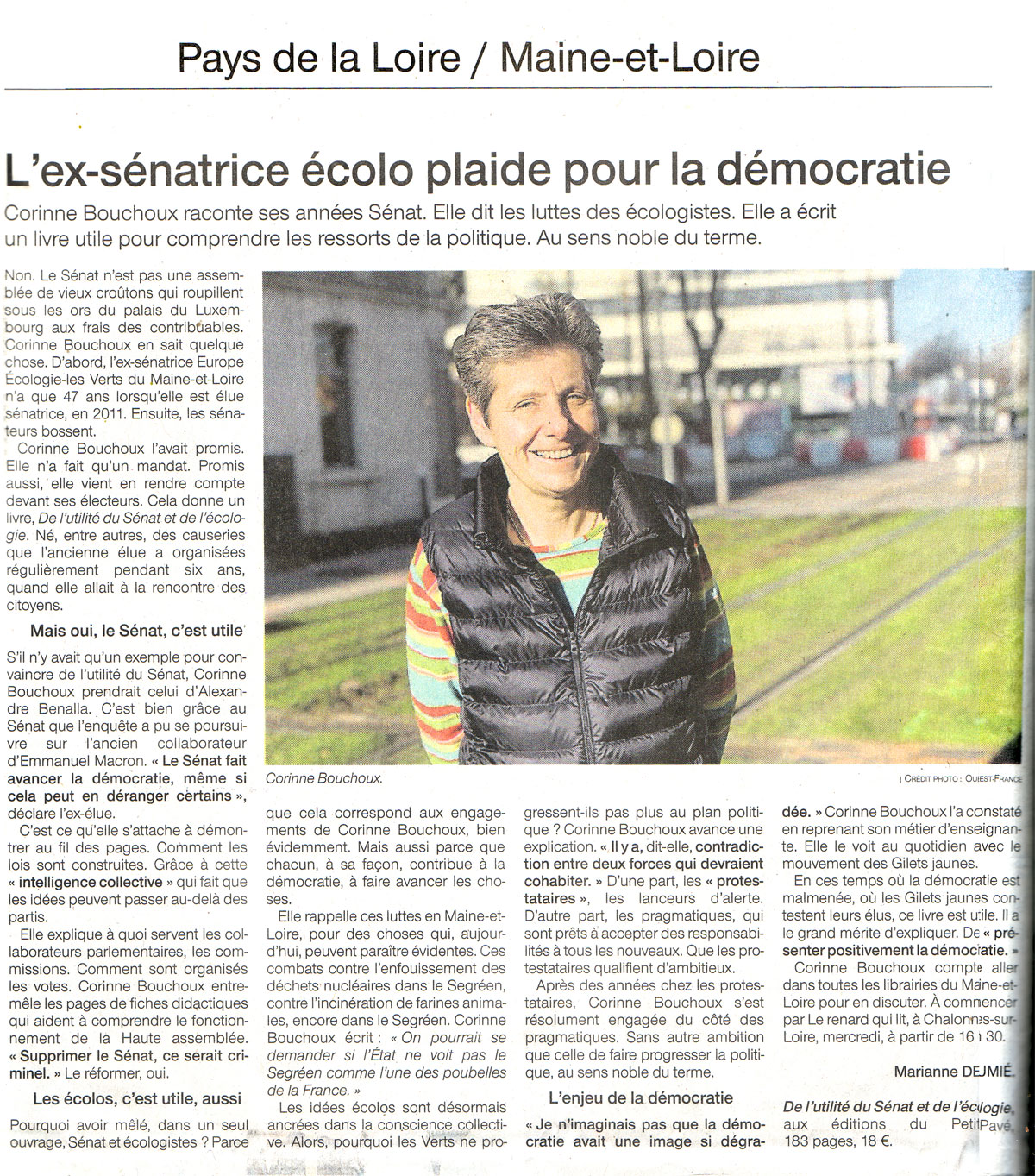 De l'Utilit� du S�nat et de l'�cologie - Corinne Bouchoux - Document article_presse.jpg