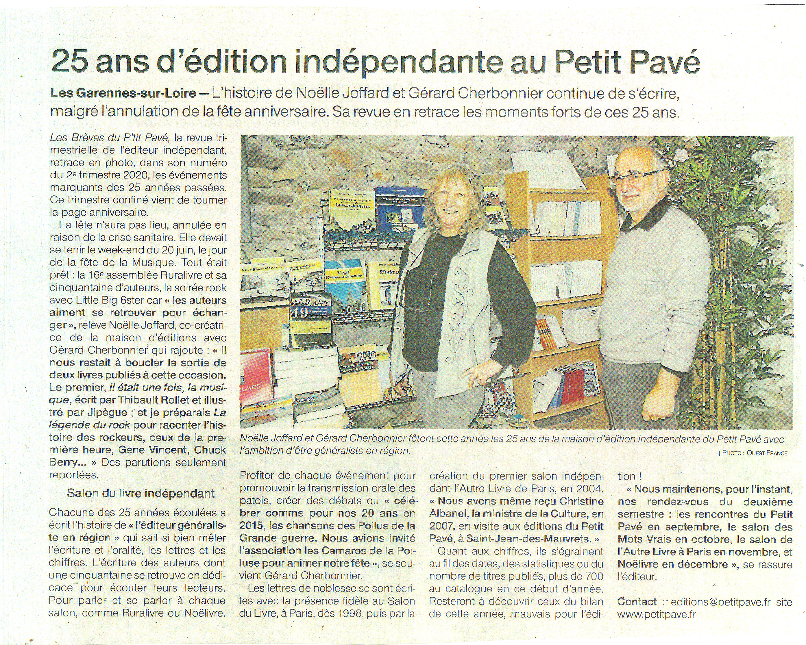 25 ans d'�dition ind�pendante au Petit Pav� - Photo 25ans_edt_independante.jpg