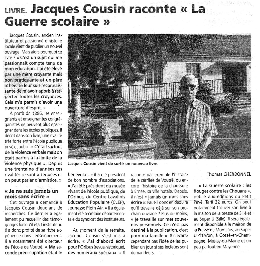 Jacques Cousin raconte