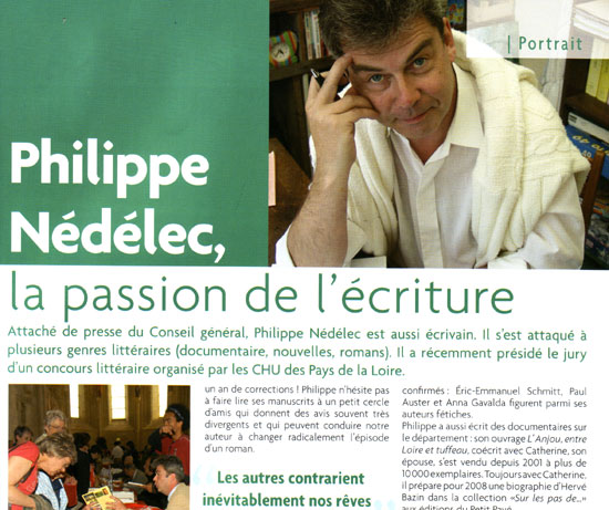 Philippe N�d�lec, la passion de l'�criture - Photo nedelec.jpg