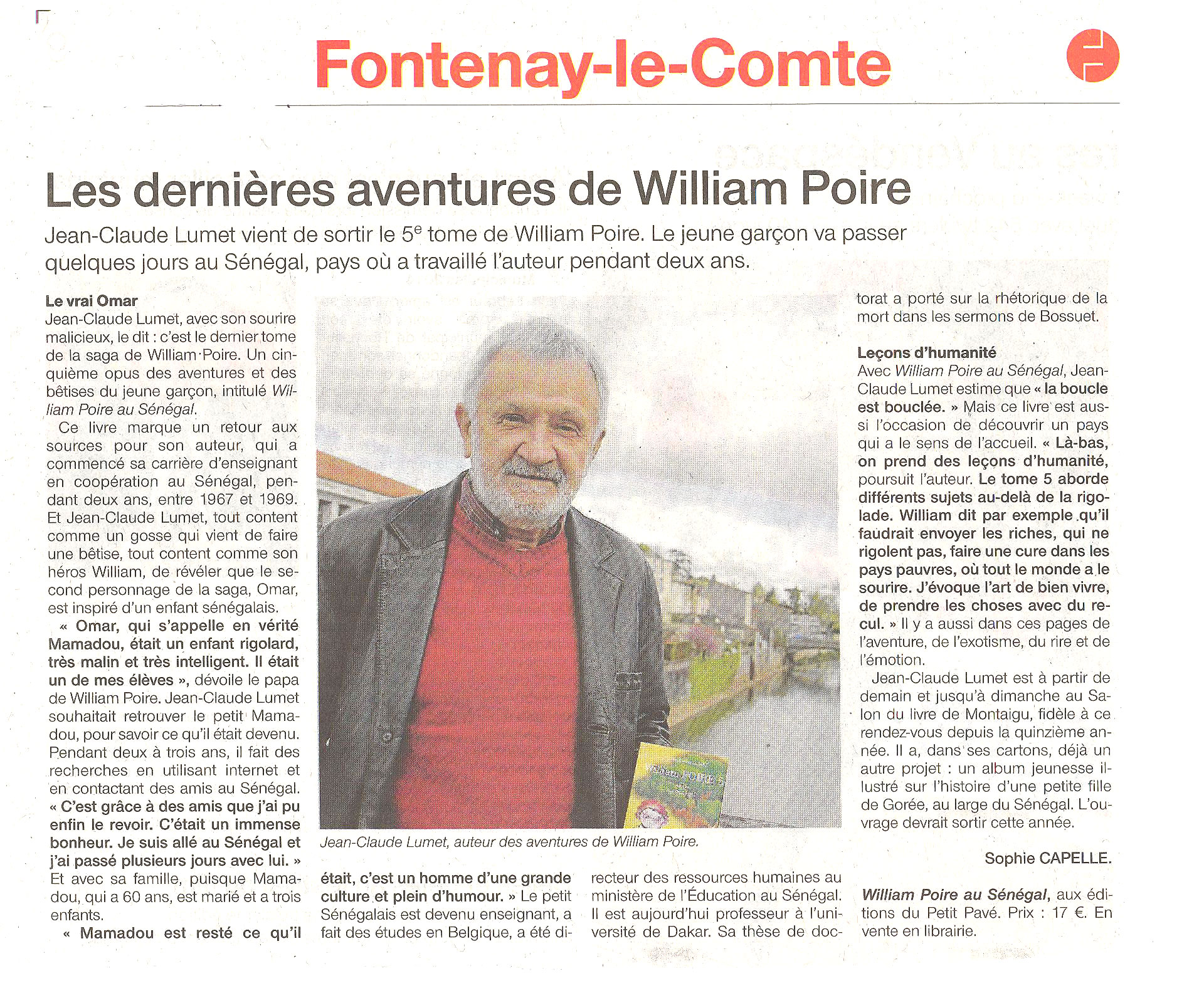 Les derni�res aventures de William Poire - Photo wp-5-ouest-france.jpg